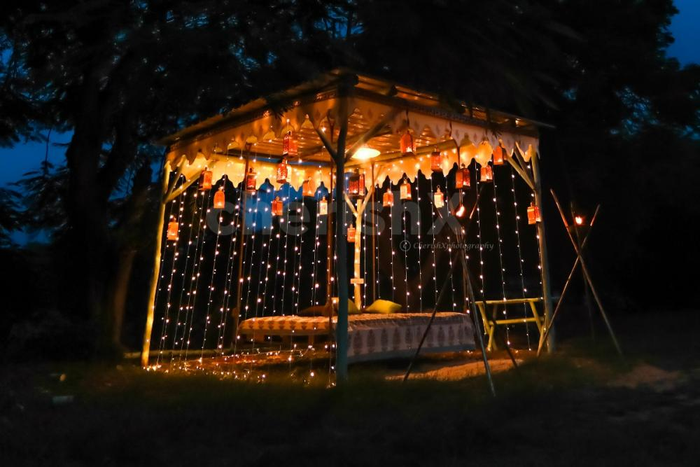 Fairy light Dinner on a Swing