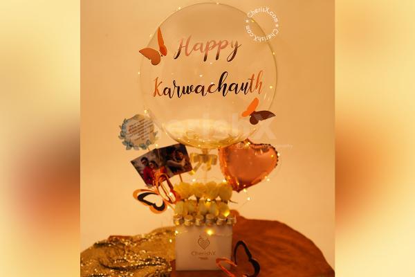 Premium Feather Karwa Chauth Special Bucket
