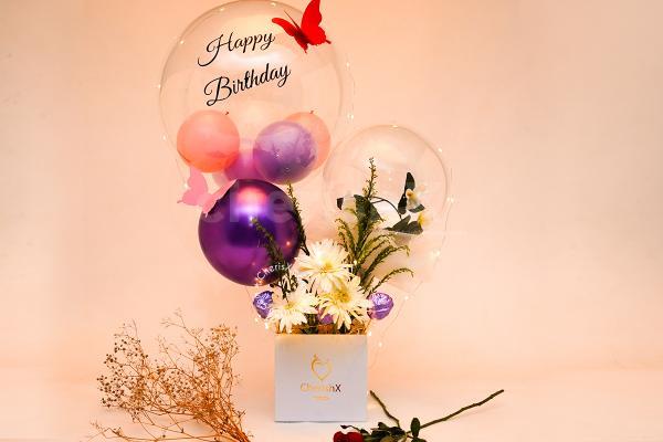 Luxury Pastel Balloon Bucket