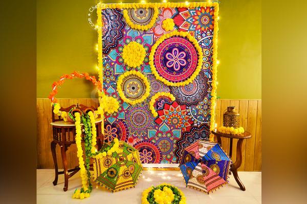 Mandala Backdrop Diwali Decoration