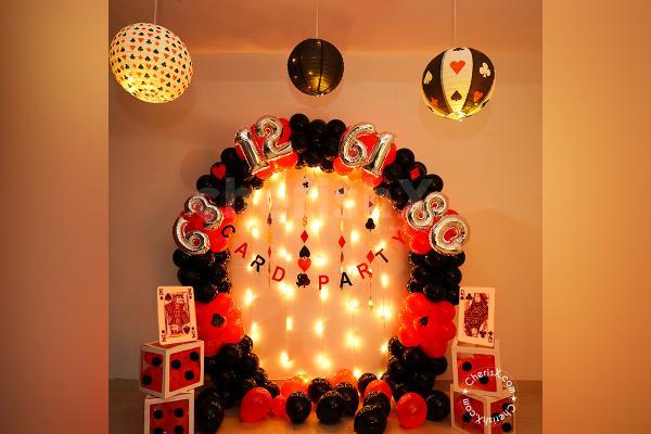 Casino Theme Lantern Diwali Decor