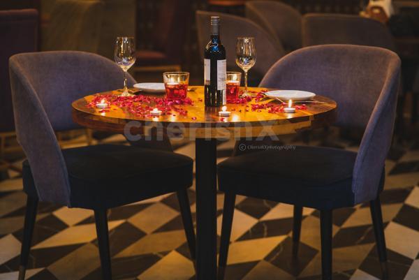 Romantic Karwachauth Candle Light Dinner